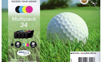 Epson Golf Ball 34 Ink Cartridges - Black & Colour