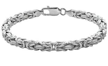 Revere Italian Sterling Silver Square Byzantine Bracelet