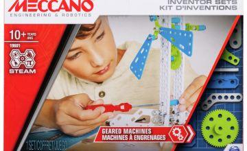 Meccano Inventors 3 Geared Machines Set