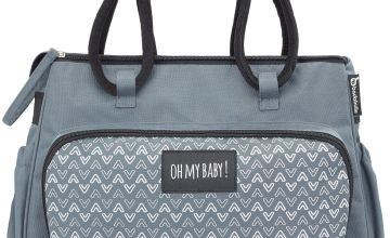 Badabulle Boho Changing Bag - Grey