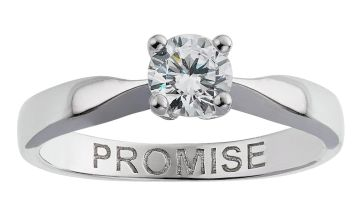 Revere Sterling Silver Cubic Zirconia 'Promise' Ring
