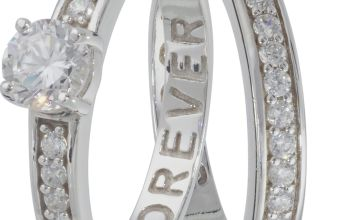 Revere Sterling Silver Eternity Ring Set