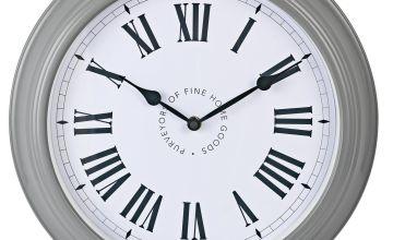 Argos Home Stationary Wall Clock - Grey