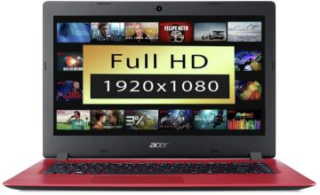 Acer Aspire 1 14in Celeron 4GB 64GB FHD Cloudbook - Red