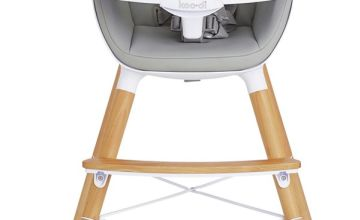 Koo-di Duo Wooden High Chair - Grey