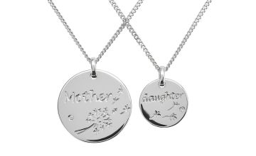 Moon & Back Sterling Silver Mum & Daughter Pendant Necklace