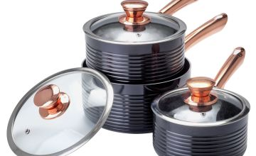 Tower Linear 3 Piece Aluminium Pan Set - Rose Gold