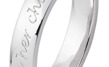 Moon & Back Sterling Silver Mum Ring