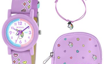 Tikkers Lilac Unicorn Watch, Necklace and Purse Set