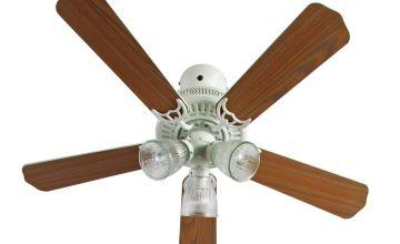 Argos Home Boston Ceiling Fan - White and Oak Effect