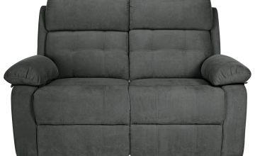 Argos Home June 2 Seater Fabric Recliner Sofa - Charcoal