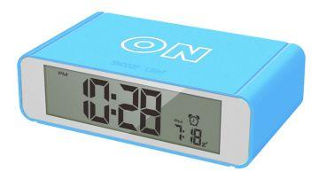 Precisions Flip Alarm Clock - Blue