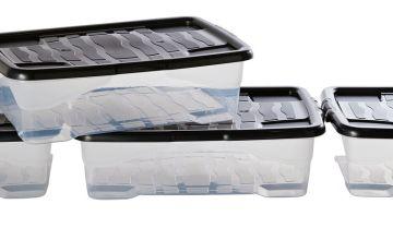 Strata 30 Litre Curve Underbed Storage Boxes - Set of 4