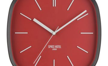 Space Hotel Square Wall Clock