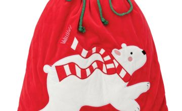 Argos Home Polar Bear Christmas Present Sack