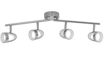 Argos Home Inner Lit 4 LED Spotlight Bar - Chrome