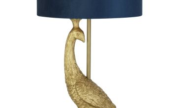 Argos Home Dutch Glam Florence the Peacock Table Lamp - Blue