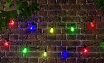 Argos Home 16 Multicoloured Super Bright LED Bulb Chain
