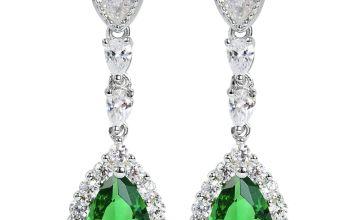 Revere Sterling Silver Cubic Zirconia Pear Earrings
