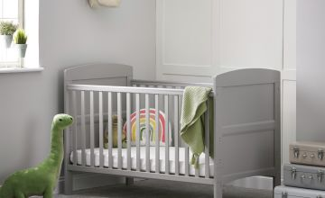 Obaby Grace Baby Cot Bed - Warm Grey