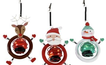 Argos Home 3 Pack of Hanging Light Up Christmas Decorations