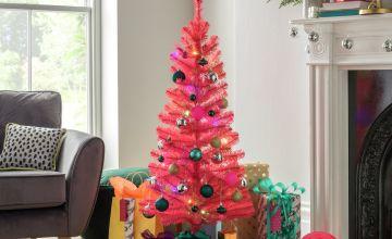 Argos Home 4ft Christmas Tree - Pink