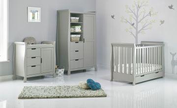 Obaby Stamford Mini 3 Piece Room Set - Warm Grey