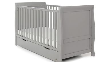 Obaby Stamford Classic Cot Bed - Warm Grey