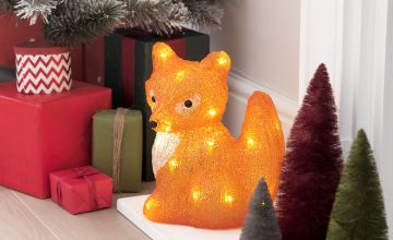 Argos Home Warm White Acrylic Light Up Fox