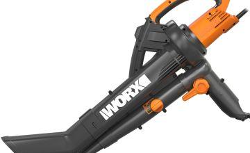 WORX WG505E Trivac Leaf Blower and Vac - 3000W