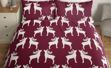 Argos Home Fleece Reindeer Bedding Set
