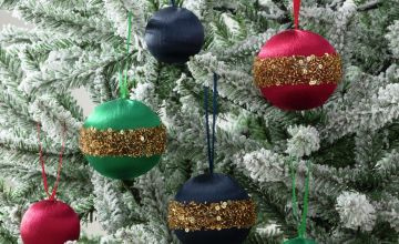 Argos Home 9 Pack of Enchanted Christmas Satin Baubles