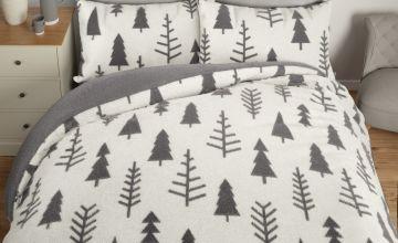 Argos Home Trees Fleece Bedding Set