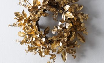 Argos Home Enchanted Christmas Gold Foliage Christmas Wreath