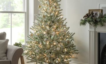 Argos Home 6ft Snowy Artificial Christmas Tree - Green