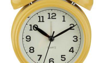 Argos Home Bell Alarm Clock - Mustard