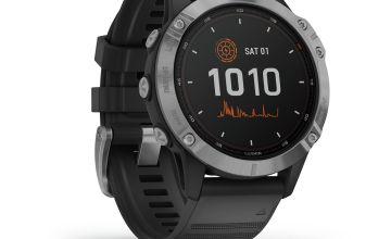Garmin Fenix 6 Solar GPS Smart Watch – Silver/Black