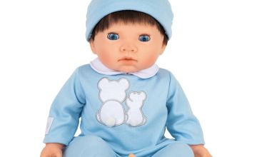 Tiny Treasures Doll with Blue Outfit