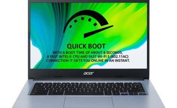 Acer CB314 14in Celeron 4GB 64GB FHD Chromebook -Pure Silver