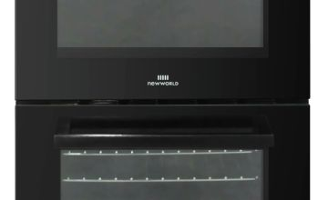 New World NWLS50DEB Double Oven Electric Cooker - Black