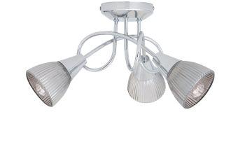 Argos Home Ribbed Curico 3 Light Ceiling Light