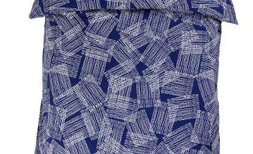 Argos Home Grid Print Bedding Set