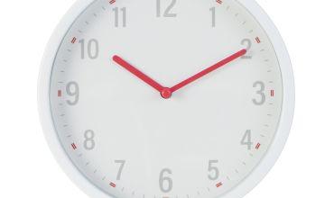 Argos Home Plastic Wall Clock - White