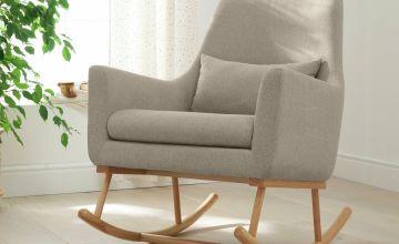 Oscar Rocking Chair - Stone/Natural