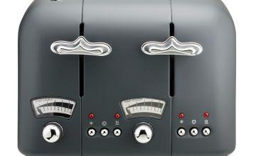 De'Longhi CT04.GY Argento Silva Toaster  - Grey