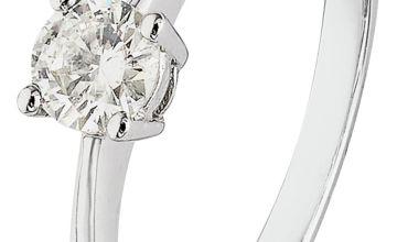 Revere 9ct White Gold 0.25ct Diamond Solitaire Ring