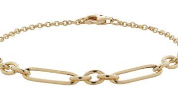 Revere 9ct Gold Plated Sterling Silver Large Link Bracelet