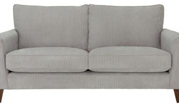 Argos Home Berlin 3 Seater Fabric Sofa - Silver