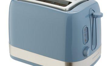 Cookworks Illuminated 2 Slice Toaster - Blue