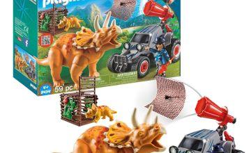 Playmobil 9434 Dinos Enemy Quad with Triceratops
